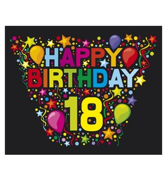 18th Birthday Card vector