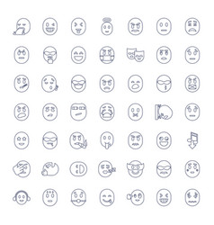 49 expression icons vector
