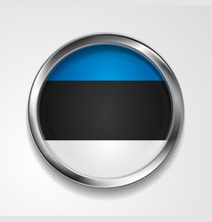 abstract badge button with metallic frame vector image