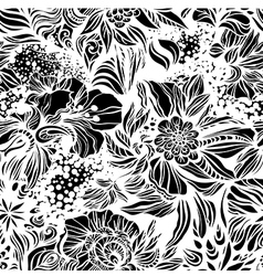 Abstract floral seamless pattern vector