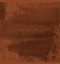 Abstract texture of dark brown rusted metal vector