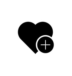 add heart favorite icon signs and symbols can be vector image