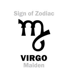 Astrology sign of zodiac virgo the maiden vector