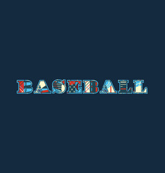 Baseball concept word art vector