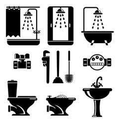bathroom equipment vector image
