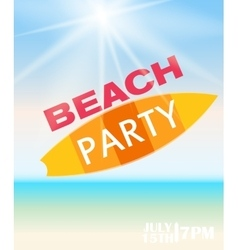 Beach Summer Party Poster vector image