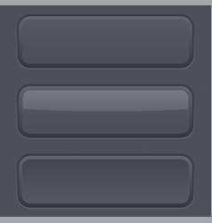Black matted buttons vector