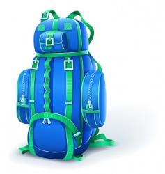 blue big backpack for travel vector image