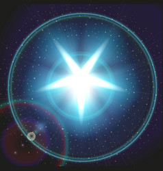 blue color design with a star vector image