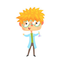 Boy chemist kids future dream professional vector