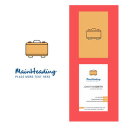 briefcase creative logo and business card vector image