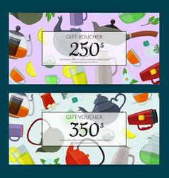 cartoon tea cups discount vector image