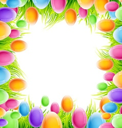 colorful eggs design vector image