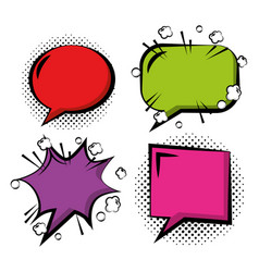 Comic pop art speech bubble vector