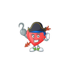 Cool one hand pirate arrow love cartoon character vector