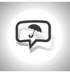Curved umbrella message icon vector