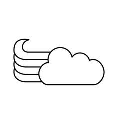 cute fantasy cloud icon vector image