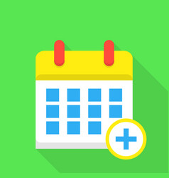 daily calendar icon flat style vector image