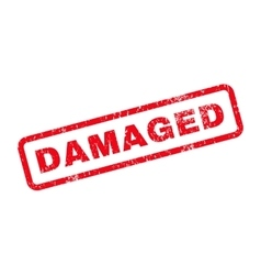 Damaged text rubber stamp vector