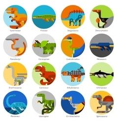 Dinosaur Icons Set vector image