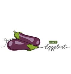 Eggplant aubergine brinjal simple vector