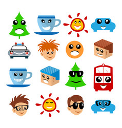 emoji emoticon expression vector image