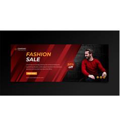 fashion sale promotional facebook cover design tem vector image