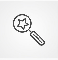 favorite search icon sign symbol vector image