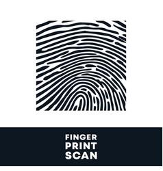 fingerprint stamp finger print biometric scan vector image