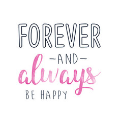 Forever and always print design with slogan vector