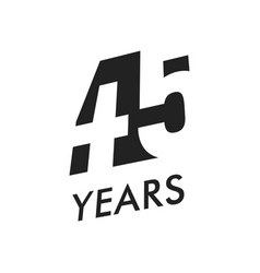 forty five years emblem template vector image