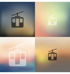 Funicular icon on blurred background vector