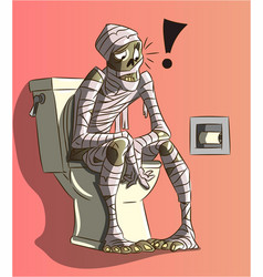 funny mummy character with bandages vector image