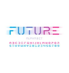 Futuristic style font design alphabet letters vector