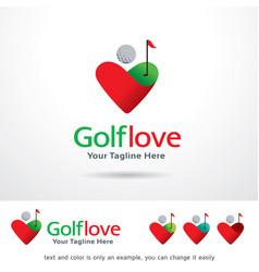 golf love logo template vector image