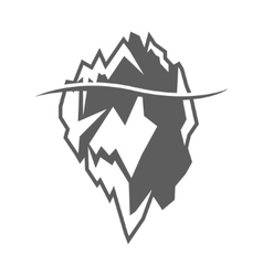 grey iceberg icon on white background vector image