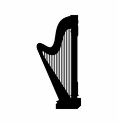 harp dark silhouette vector image