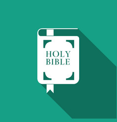 holy bible book icon isolated with long shadow vector image