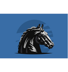 Horse galloping vector