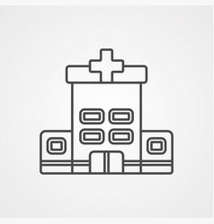 hospital icon sign symbol vector image