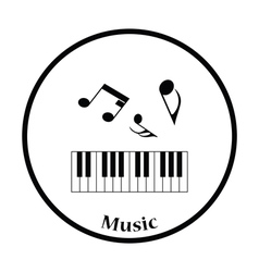 Icon of Piano keyboard vector image