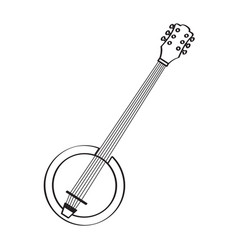 isolated banjo icon musical instrument vector image