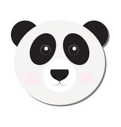 Isolated panda face vector