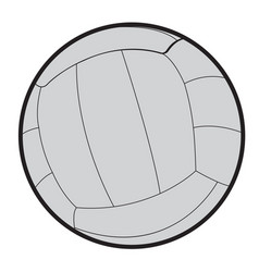 isolated volleyball ball vector image