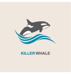 killer whale icon vector image