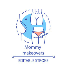 Mommy makeovers concept icon vector