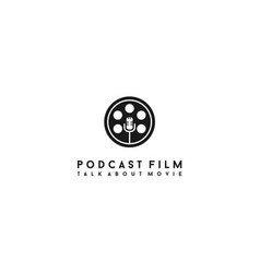 movie podcast logo design vector image