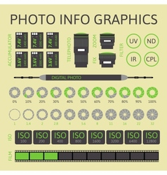 Photo infographics set part two vector image