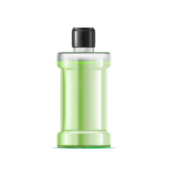 Realistic detailed 3d green water mouthwash vector