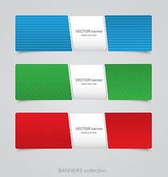 riped abstract banner vector image vector image